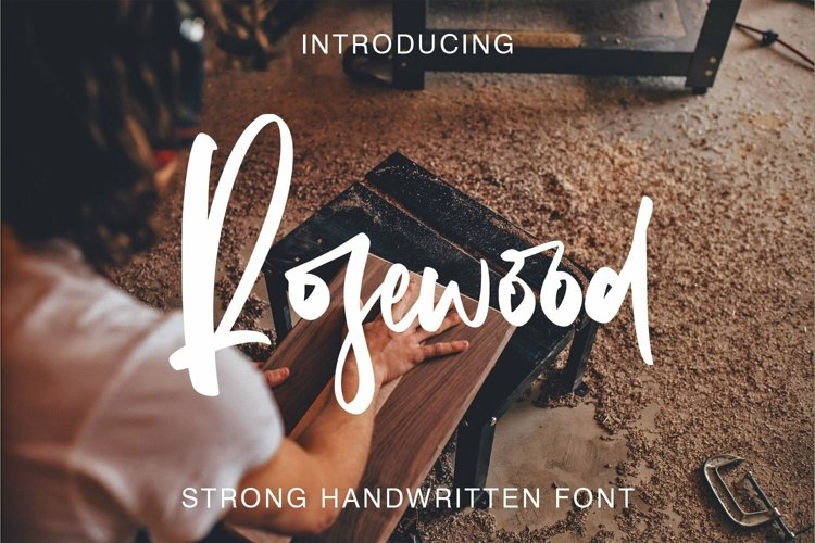 Web Font Rosewood Font example image 1