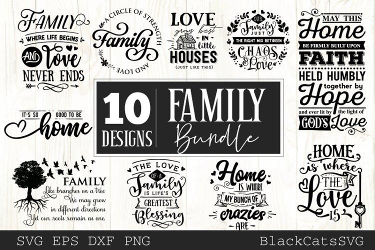 Family and home SVG bundle 10 designs Family SVG bundle