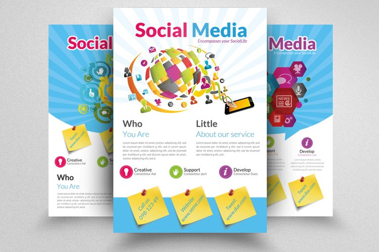 3 Layout Social Media Advertisement Flyer example image 1