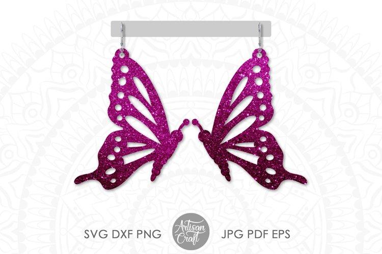 Butterfly Earrings SVG Earrings SVG, Cut file example image 1