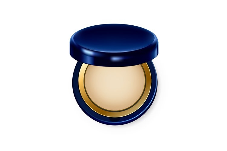 Make Up Powder Visage Complexion Cosmetic Vector example image 1