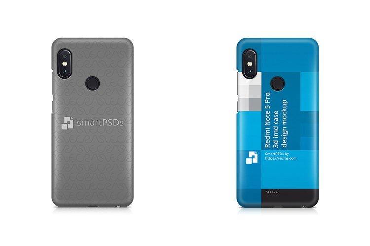 Redmi Note 5 Pro 3d IMD Case Mockup Back 2018 example image 1