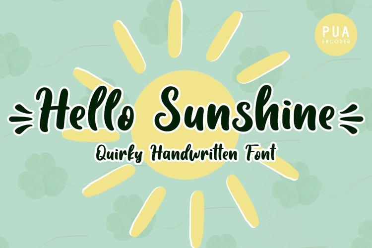 Hello Sunshine example image 1