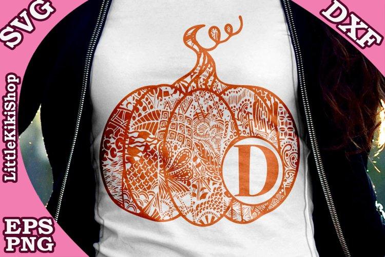 Pumpkin Monogram Svg,Mandala Pumpkin, Thanksgiving clipart