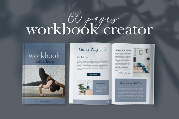 Workbook Canva Template, 60 Pages Ebook Template Lead Magnet example image 1