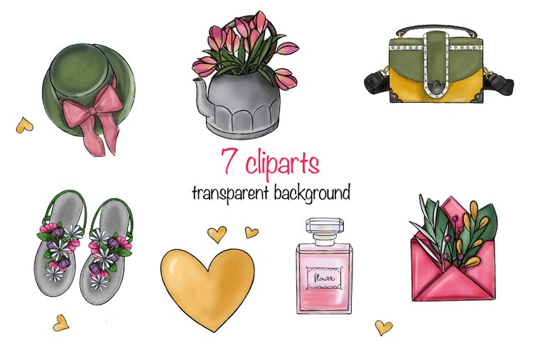 Spring clipart elements png on transparent background example image 1