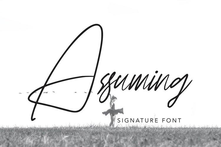 Assuming - Signature Font