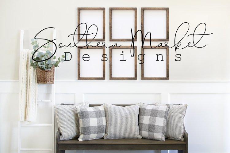 Set of 6 8x10 Wood Sign Mock UpFarmhouse Styled Photo