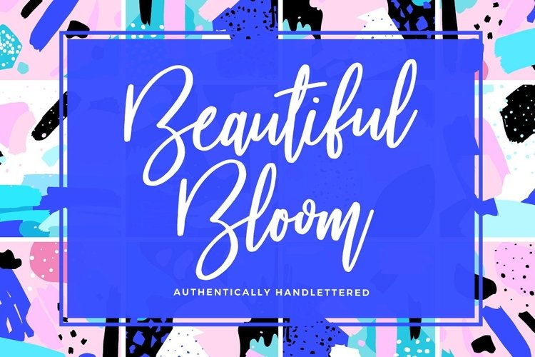 Beautiful Bloom Typeface