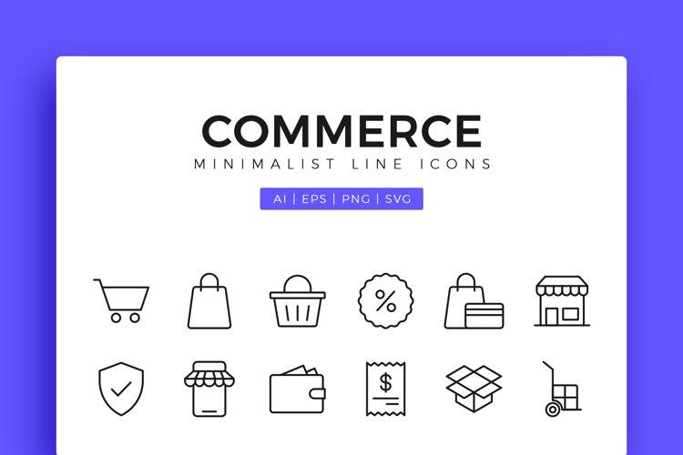 Commerce   Shopping Minimalist Line Icons