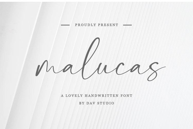 malucas - Lovely Handwritten Font example image 1