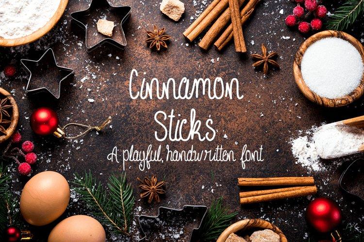 Cinnamon Sticks Handwritten Font example image 1