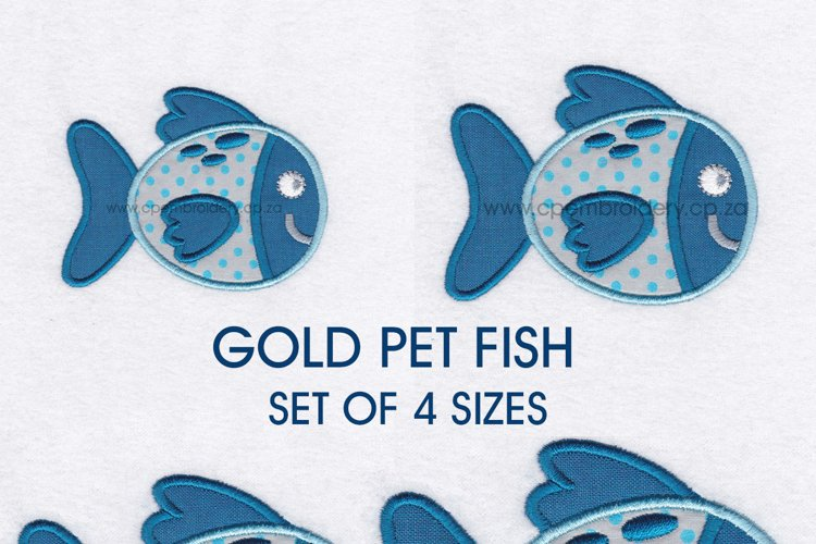 Gold Spotted Fish Applique Machine Embroidery Design example image 1