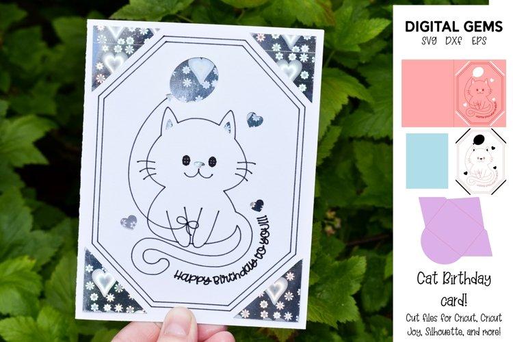 Cricut Joy Card! Cat Birthday card design!