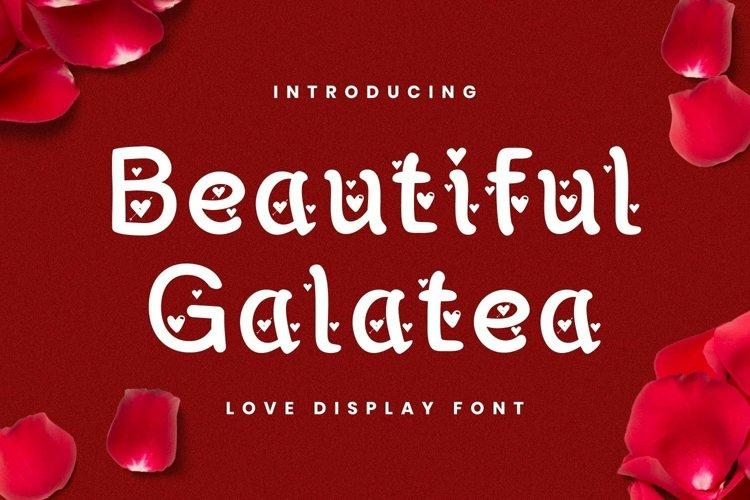 Web Font Beautiful Galatea Font example image 1