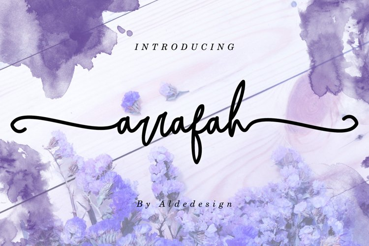 Arrafah // Fashionable Handwritten Font example image 1