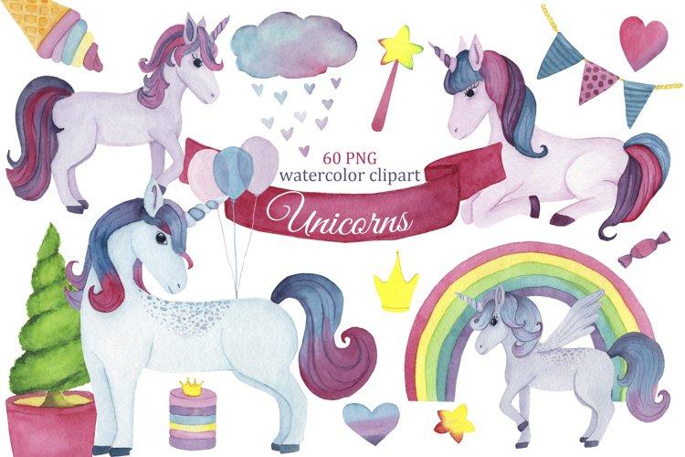 Unicorn watercolor clipart, Unicorn png, fairy clipart