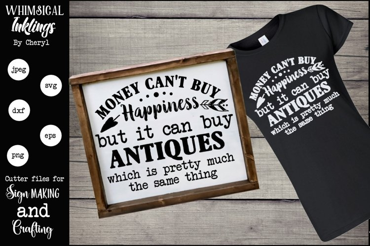 Money Can Buy Antiques SVG example image 1
