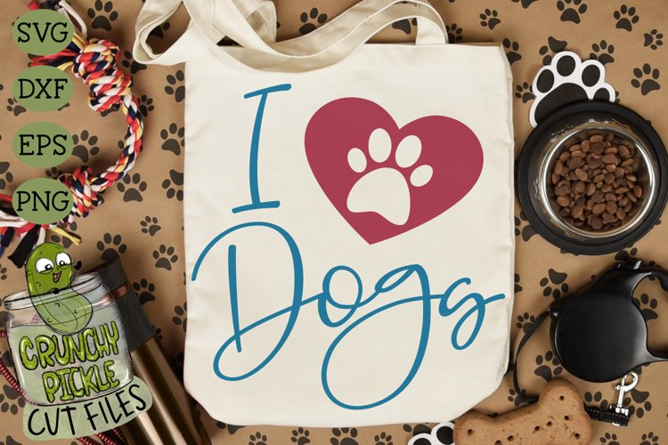 I Heart Dogs SVG Cut File