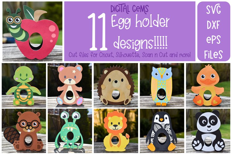 Egg holder bundle! 11 designs! Easter / Birthday / Christmas