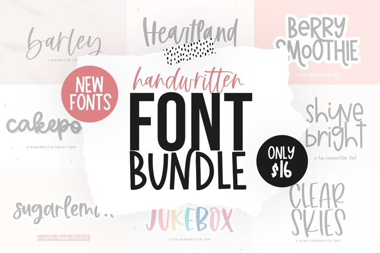 Font Bundle - Handwritten Fonts for Crafters!