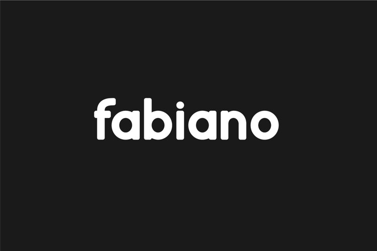 Fabiano. Sans serif family. example image 1