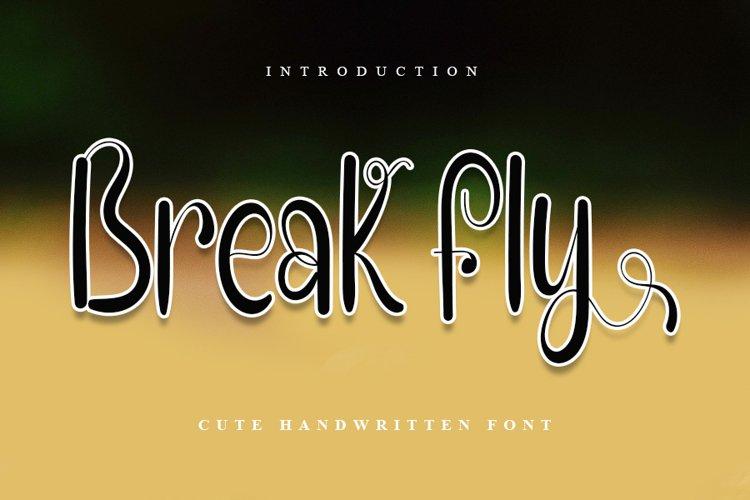Break Fly - Cute Handwritten Font example image 1
