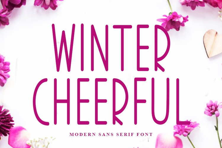 Winter Cheerful | Modern Sans Serif Font example image 1