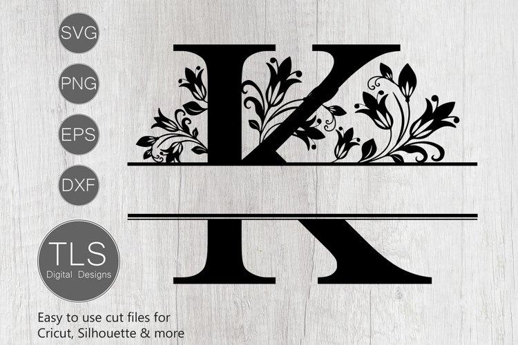 Split Monogram Letter K SVG, Letter K Monogram SVG