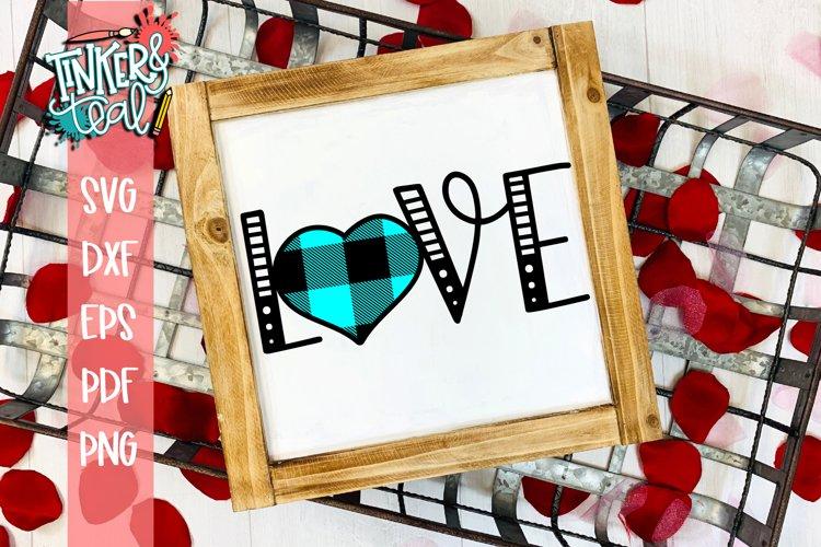 Love Buffalo Heart Valentine SVG example image 1