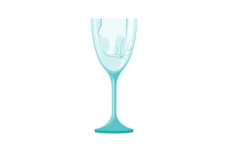 Garbage element broken glass example image 1