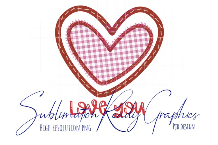 Valentines Love Heart Sewing Themed Sublimation Ready