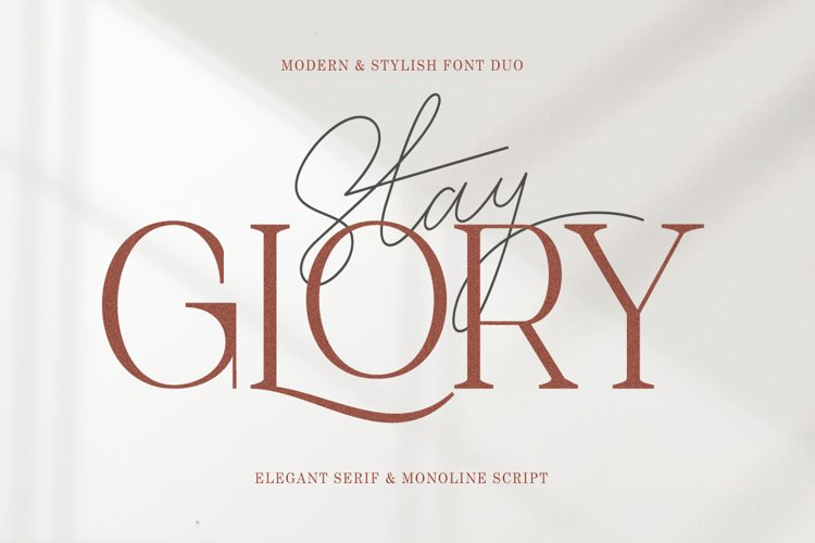 Stay Glory Font Duo example image 1