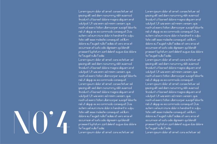 Fiore Typeface example 3