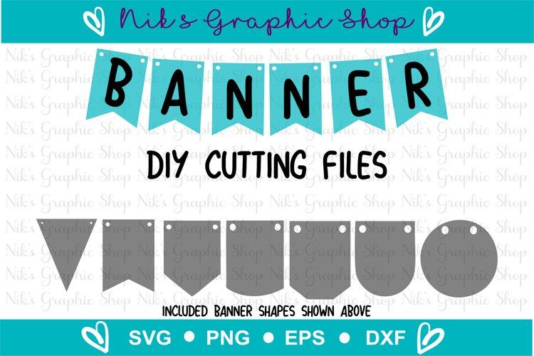 Banner Svg, Bunting Banner Svg, Banner Cut Files, Flag Svg