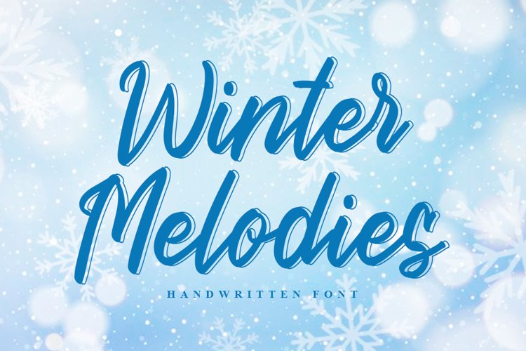 Winter Melodies | Modern Handwritten Font example image 1