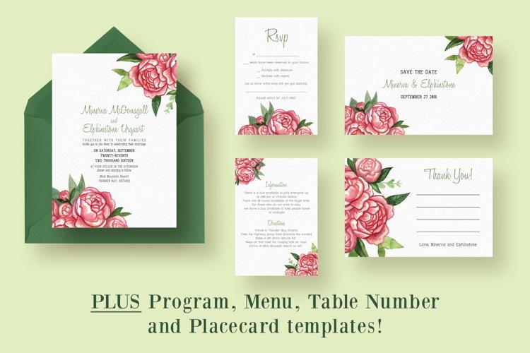 Watercolor Bouquet Wedding Suite