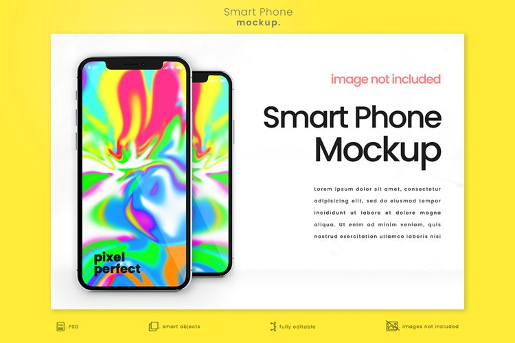 Bright Modern Apple iPhone Mockup 3