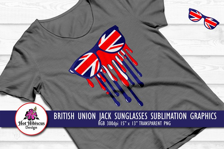 British Dripping Paint Sunglasses Sublimation T-shirt Design