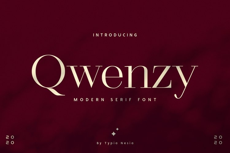 Qwenzy - Modern Serif example image 1