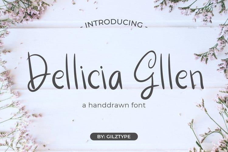 Dellicia Gllen - A Handrawn Font example image 1