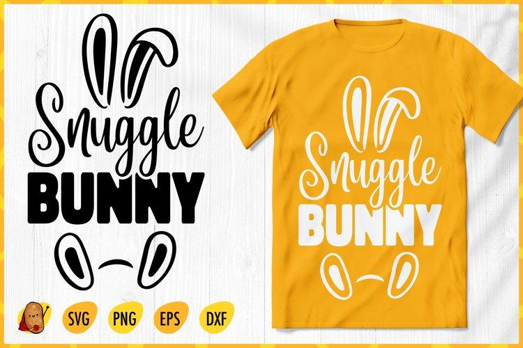 Snuggle Bunny SVG - Easter SVG - Easter Bunny SVG