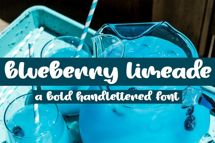 Web Font Blueberry Limeade - A Bold Handlettered Font example image 1