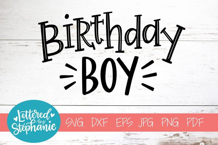 Handlettered SVG DXF, Birthday boy example image 1
