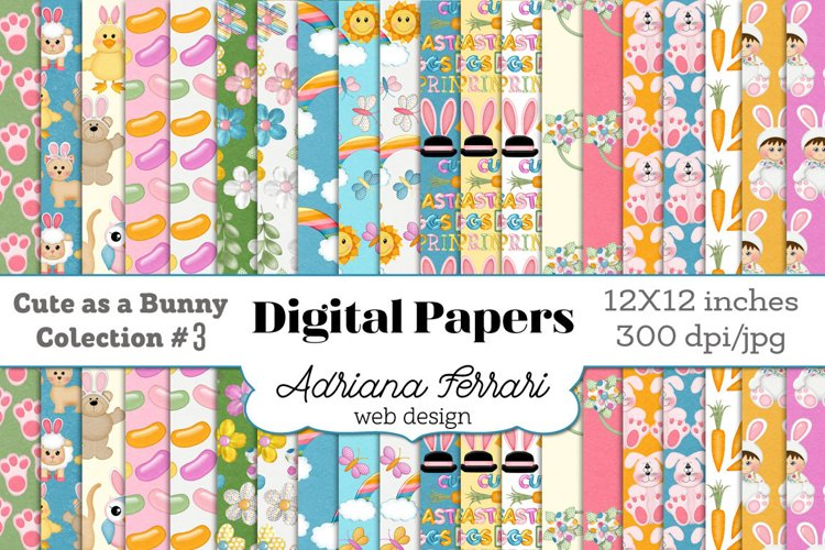 Cute as a Bunny Paper 3