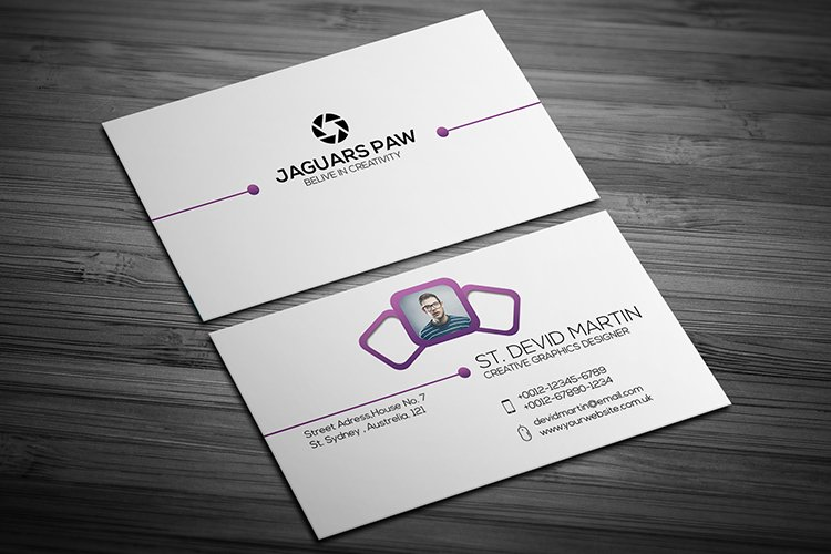 Minimalist Cool Business Card Template Design