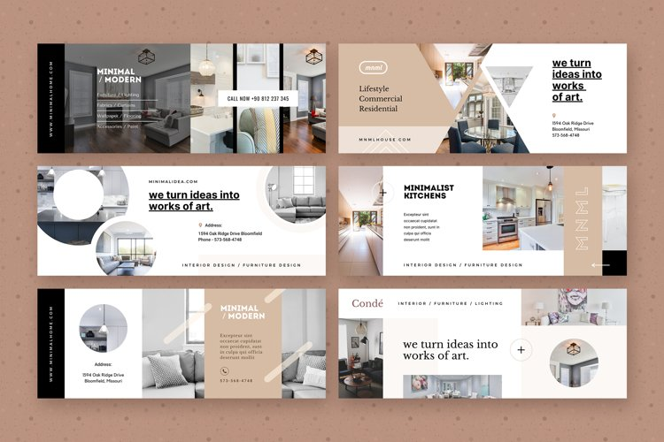 Modern Home / Real Estate Facebook Covers - Canva