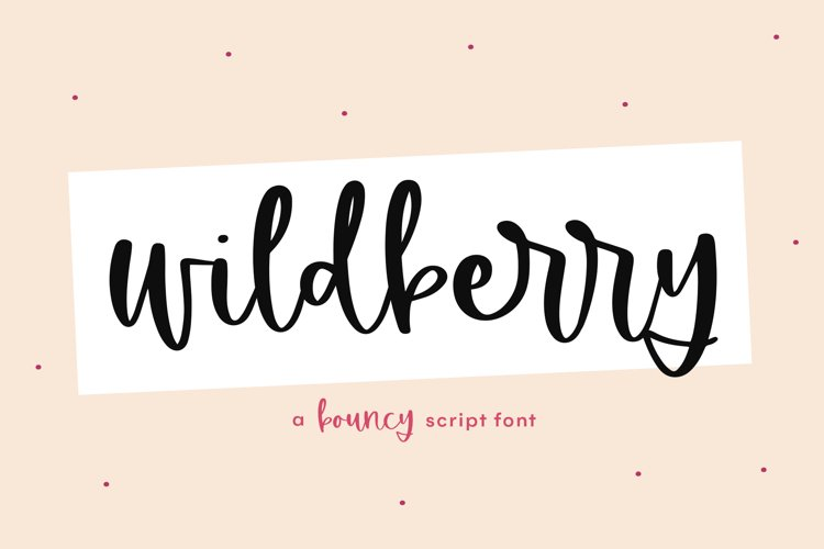 Wildberry - A Bouncy Handwritten Script Font example image 1