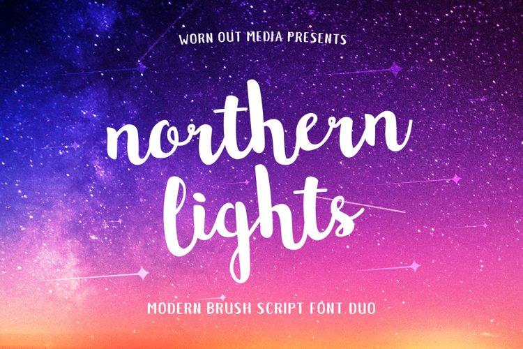 Northern Lights Script Font Duo example image 1