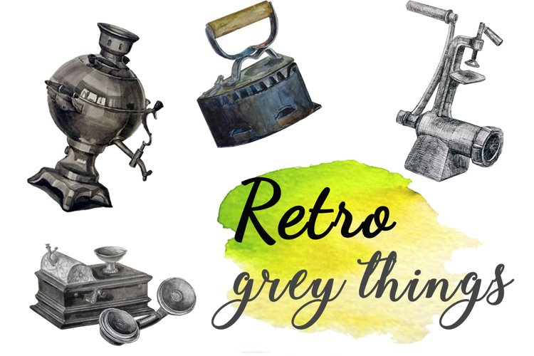 Vintage grey things. example image 1